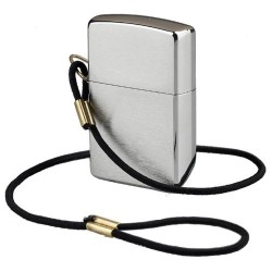 Žiebtuvėlis ZIPPO 275 Lossproof With Loop & Lanyard Lighter -Brushed Chrome