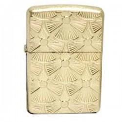 Žiebtuvėlis  ZIPPO 28541 Fanned Discs Tumbled Brass