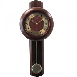 ADLER 20191  riešutas Sieninis kvarcinis laikrodis