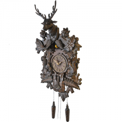 ADLER 24000W Cuckoo-clock. Color - walnut