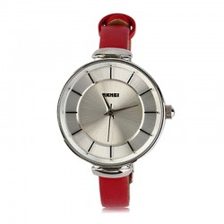 SKMEI  1184CL Silver Case Light Red