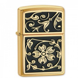 Žiebtuvėlis ZIPPO 20903 Emblem Brushed Brass