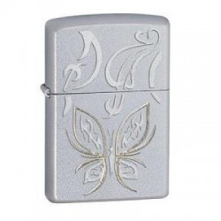 Žiebtuvėlis ZIPPO 24339 Golden Butterfly Satin Chrome