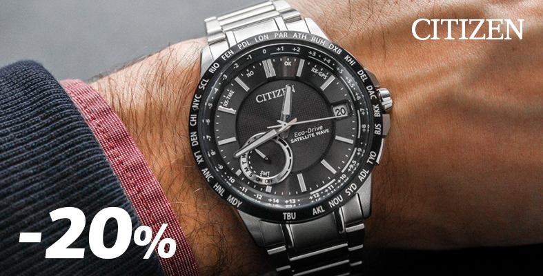 -20% for all CITIZEN watches