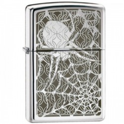 Žiebtuvėlis ZIPPO 28052 Hidden Spider Chrome Lighter