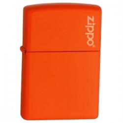 Žiebtuvėlis ZIPPO 231ZL Orange Matte with Zippo Logo