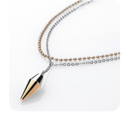 Vėrinys Storm Pendulum Necklace Gold
