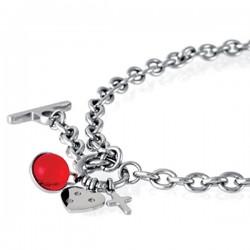 Vėrinys Storm Baril Charm Necklace Red