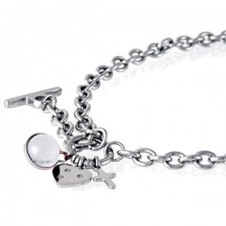 Vėrinys Storm Baril Charm Necklace White