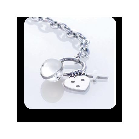 Apyrankė Storm Baril Charm Bracelet White