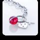 Apyrankė Storm Baril Charm Bracelet Red