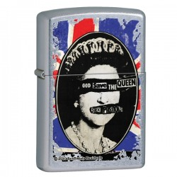 Žiebtuvėlis Zippo 28024 Sex Pistols God Save the Queen Street Chrome