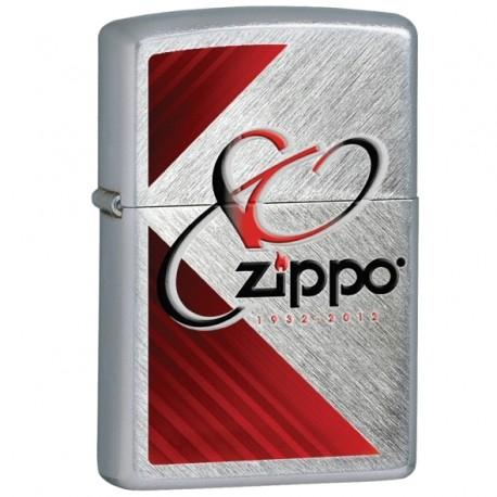 Žiebtuvėlis ZIPPO 28192 80TH Anniversary Lighter, Brushed Chrome