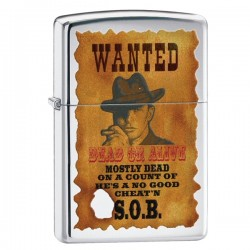 Žiebtuvėlis ZIPPO 28289 Wanted Poster High Polish Chrome