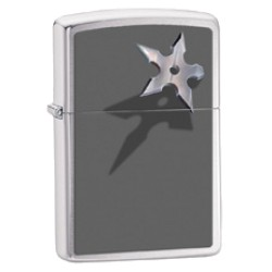 Žiebtuvėlis ZIPPO 28030 Throwing Star Brushed Chrome