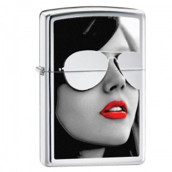 Žiebtuvėlis ZIPPO 28274 Woman in Sunglasses High Polish Chrome