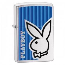Žiebtuvėlis ZIPPO 28261 Playboy Bunny Logo Brushed Chrome