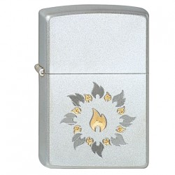 Žiebtuvėlis ZIPPO 21192 Ring Of Fire Satin Chrome