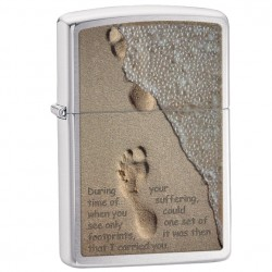 Žiebtuvėlis ZIPPO 28180 Footprint in Sand Brushed Chrome