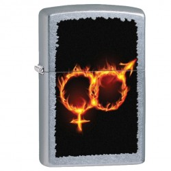 Žiebtuvėlis ZIPPO 28446 Men Women Fire Street Chrome