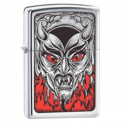 Žiebtuvėlis ZIPPO 28275 Fire Down Below Devi High Polish Chrome
