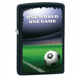 Žiebtuvėlis ZIPPO 28301 Classic One World One Game Football Black Matte Windproof