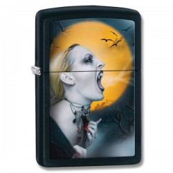 Žiebtuvėlis ZIPPO 28435 Matte Black Screaming Vampiress