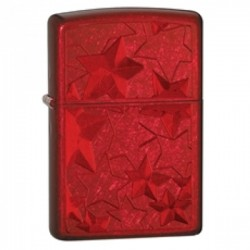 Žiebtuvėlis ZIPPO 28339 Classic Iced Stars Candy Apple Red Windproof