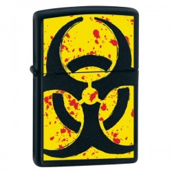 Žiebtuvėlis  ZIPPO 24330 Hazardous Black Matte With Yellow Detail
