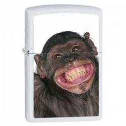 Žiebtuvėlis ZIPPO 28661 Monkey Grin White Matte Windproof Pocket
