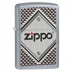 Žiebtuvėlis ZIPPO 28465 Red and Chrome Zippo Logo