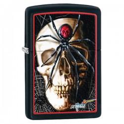 Žiebtuvėlis ZIPPO 28627 Mazzi Spider & Skull Black Matte