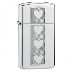 Žiebtuvėlis ZIPPO 28476 Heart Slim Polished Chrome