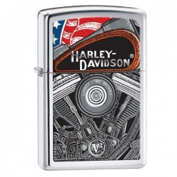 Žiebtuvėlis ZIPPO 28081 Harley Davidson Engine Polished Chrome