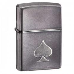 Зажигалка ZIPPO 28379 Stamped Spade Gray Dusk