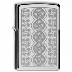 Žiebtuvėlis  ZIPPO 28657 High Polish Chrome Swirled Circles Pocket