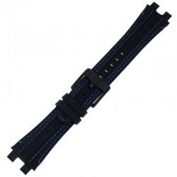 Laikrodžio dirželis BISSET BSCD25 juodas
