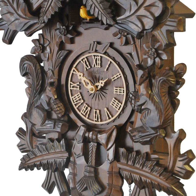 Interior Clocks Adler 24000w Cuckoo Clock Color Walnut