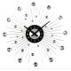 DIY STAR 3166 sieninis laikrodis