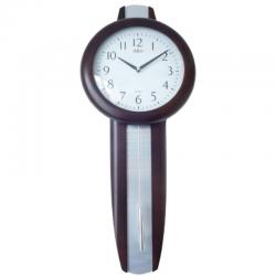 ADLER 20229W Riešutas Sieninis kvarcinis laikrodis