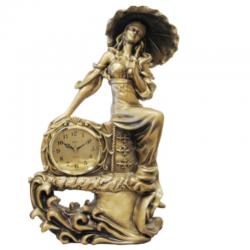 ADLER 80076G Mergina su skėčių. Stalinis kvarcinis laikrodis