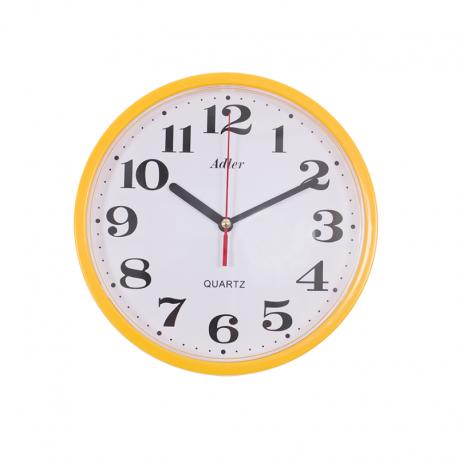 ADLER 30019 YELLOW Quartz Wall Clock