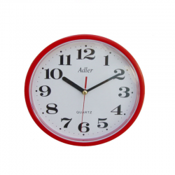 ADLER 30019 RED Haстенные кварцевые  часы