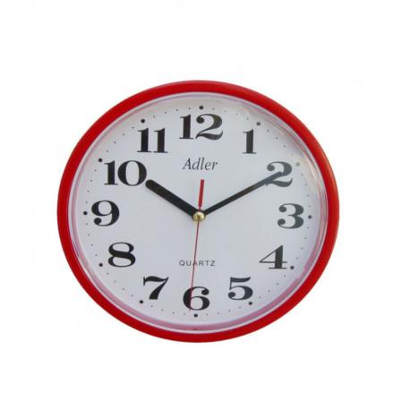ADLER 30019 RED Quartz Wall Clock
