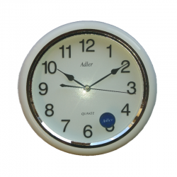 ADLER 30019 WHITE Quartz Wall Clock