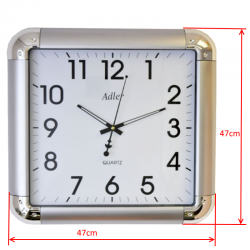 ADLER 30133 SILVER Haстенные кварцевые  часы