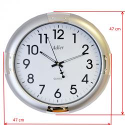 ADLER 30132 SILVER Haстенные кварцевые  часы