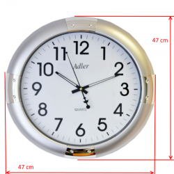 ADLER 30132 SILVER Quartz Wall Clock