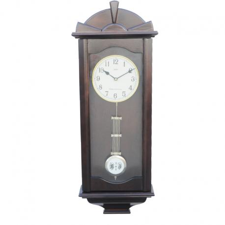 ADLER 20021W ОРЕХ. Haстенные кварцевые  часы