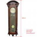 ADLER 11017W RIEŠUTAS. Sieninis mechaninis laikrodis